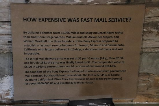 How expensive was fast mail service? - Picture of Pony