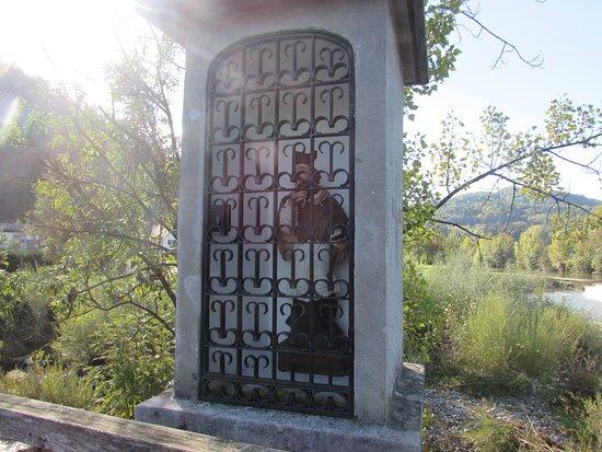 Hudiceva Brv V Skofji Loki: statua san Giovanni Nemupoceno, patrono dei ponti