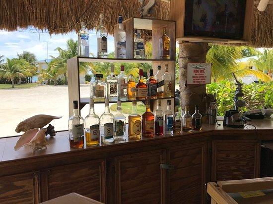 St. George's Caye, Belize: bar area