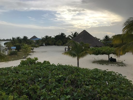 St. George's Caye, Belize: view off of front entrance to our room