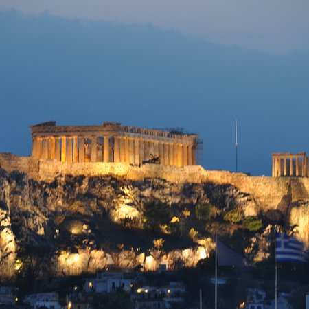 Excellent food + a view of the Acropolis