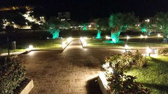 Aliki, Greece: Thassos grand resort in the night - garden view