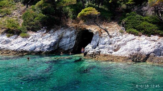 Πάνορμος, Ελλάδα: Σπηλιά Δασιά Φώκιες