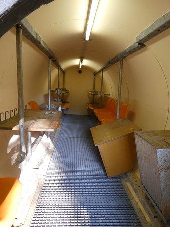 Bunkermuseum: noch heute nachvollziehbar ...
