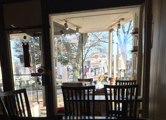 Bridgewater, MA: Table facing the street