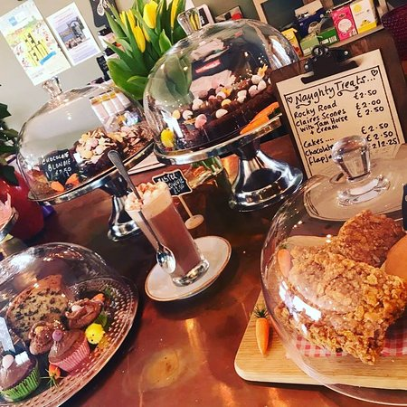 Selection of homemade cakes and treats