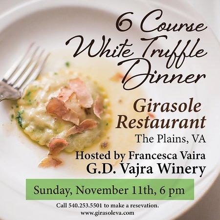 The Plains, VA: Annual White Truffle Dinner 2018