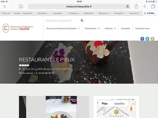 Etampes, Frankreich: Restaurant de qualité reconnu par le collège culinaire de France