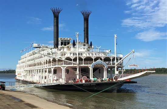 """Mississippi River: Amercan Queen """"Docked"""""""