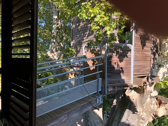 Hotel de l'Image : The Robinson Crusoe Suite's tree house (has day beds with a view of the gardens)