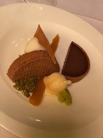 Duo Chocolate Tart with Yuzu Sherbets