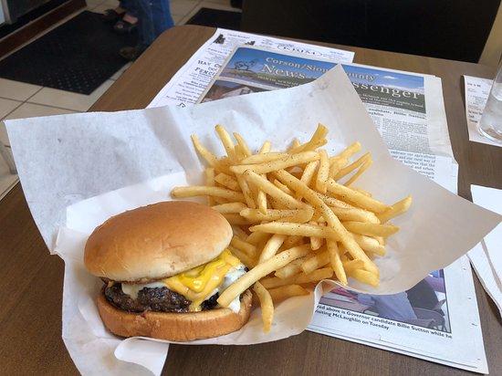 Lemmon, SD: Cheeseburger and fries. Good!