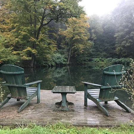 Taberg, NY: The river, cabin and Mirror Lake at Wellneste