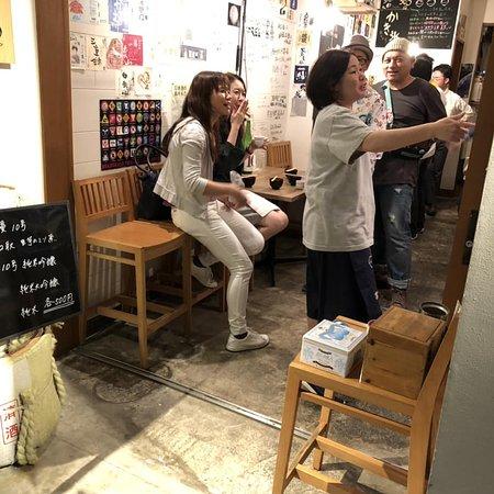 10月1日に行われた『日本酒ゴーアラウンド』ぽろ円頓寺店の酒蔵さんは水府自慢でした。
