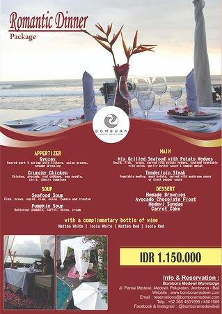 Medewi, Indonésia: Romantic Dinner