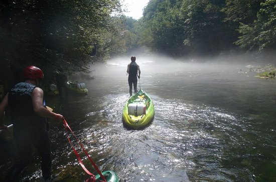 Kayaking at the Mreznica Canyon