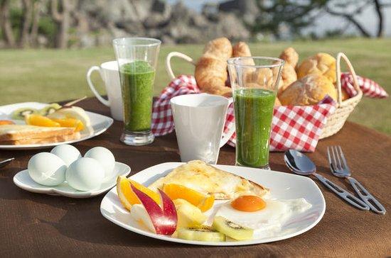 Ontbijt in Tanesashi Coastal gazons ...