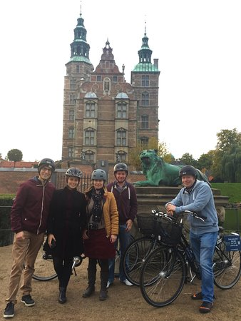 The first stop on the bike tour is the beautiful King's Garden, where King Christian IV's Rosenb