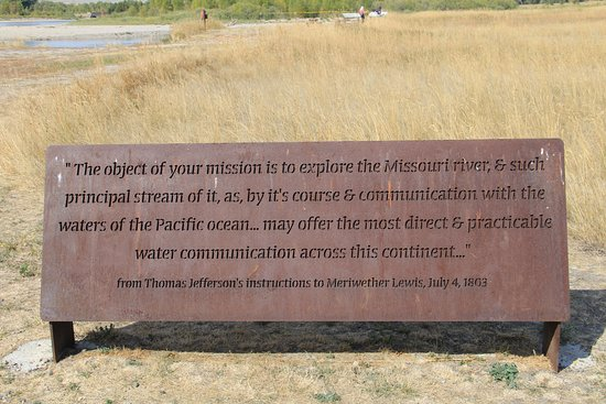 Missouri Headwaters State Park: Quote from the expedition, at the Headwaters