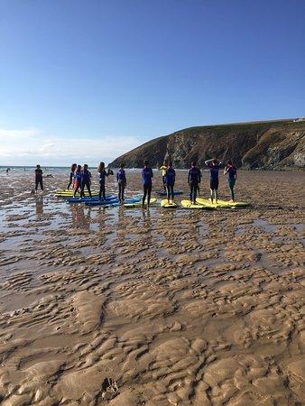 Kingsurf Surf School: King Surf Kids Club Mawgan Porth Cornwall UK