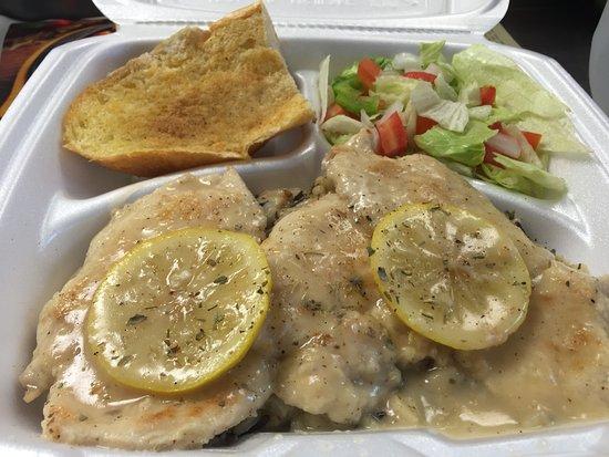Newton, نيو جيرسي: lemon chicken over wild rice