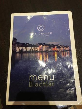 The Cellar Bar and Restaurant : Menu