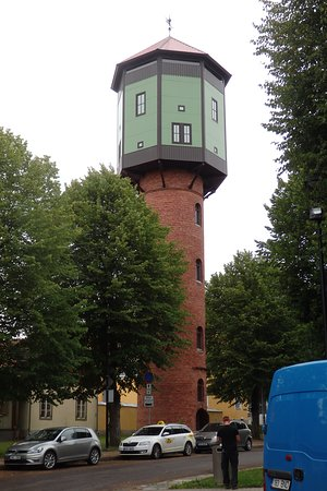 Facade of Old water-tower of Viljandi