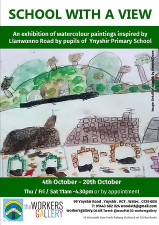 Rhondda, UK: Local school art exhibition