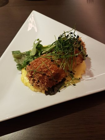 Appleby Magna, UK: Pulled Pork Croquette Starter