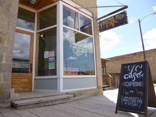 Front of Virginia City Cafe, Virginia City, MT