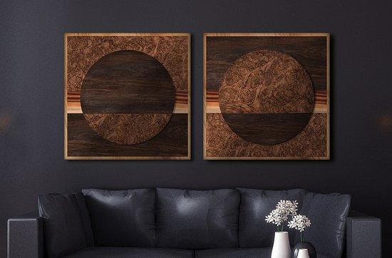 Close Up Of Morning Peaks Wood Wave Wall Art Sculpture By Artist