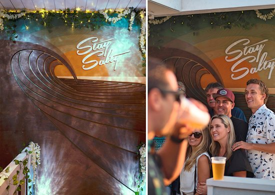 Laguna Beach S Wood Wave Wall At Thomas Studios Picture Of Thomas