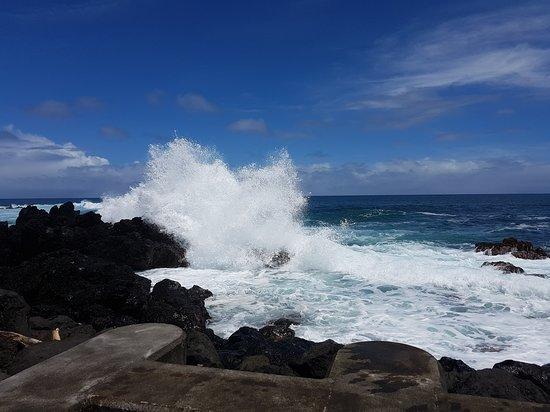 Laupahoehoe, HI: Waves Breaking