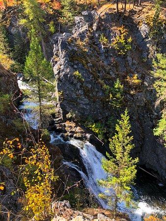 La Grande, OR : Waterfall near trail at scenic area at Wallowa Lake