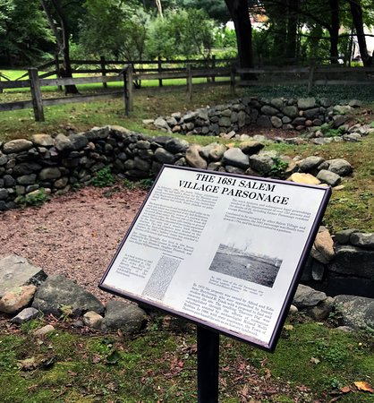 Danvers, MA: The site of the original Salem Village Parsonage.