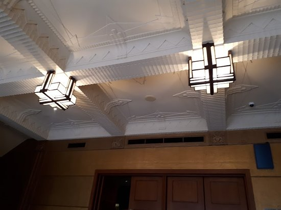 Art Deco Lights And Ceiling In The Empire Theatre Toowoomba