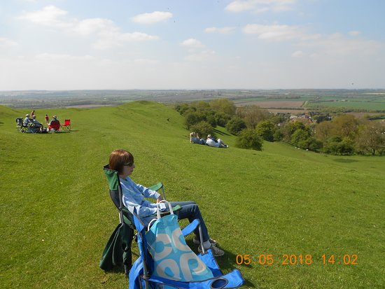Southam, UK: a stunning view of the countryside from the top