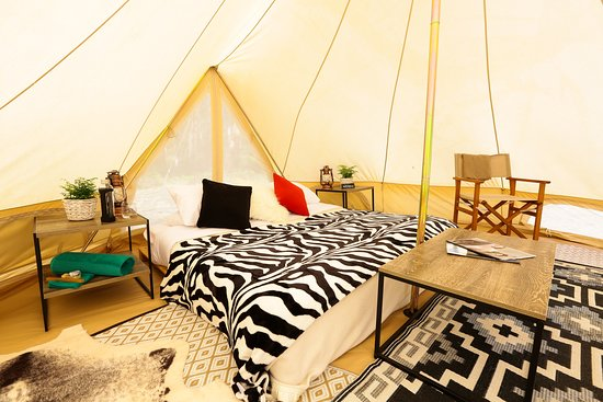 Luxury Glamping Tent interiors - Picture of Wildfest