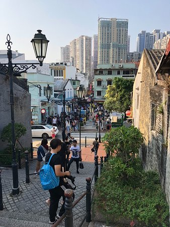 Taipa Village Macau: View of the village from the top of the hill