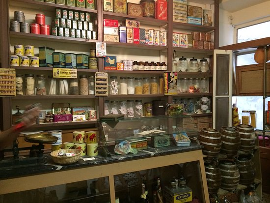 Calaf, Spain: The grocer