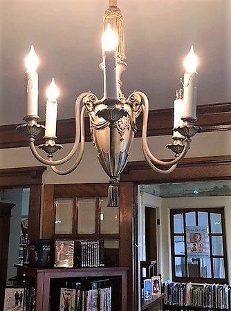 Heginbotham Library: Beautiful chandelier inside the Heginbothum Library. 