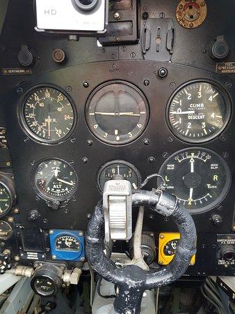 Biggin Hill, UK: cockpit is very snug