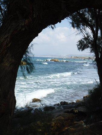 Chania Prefecture, Greece: Litoranea da Chania verso agii Apostoloi..oggi il mare è cattivo!  ..ma splendido!!