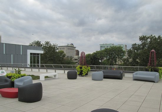 Cedar Rapids Public Library's Rooftop Seating Area