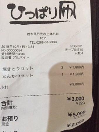 harga 3 set menu di hippari dako 日光市 ひっぱり凧の写真
