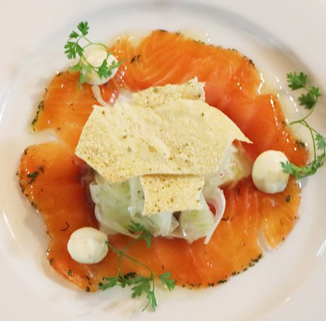 The Point Restaurant: Gin Cured Atlantic Salmon with Fennel
