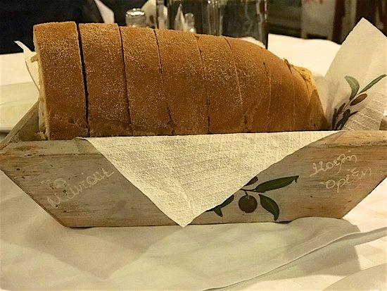 Zagora, Grécia: φρέσκο πεντανόστιμο ψωμί