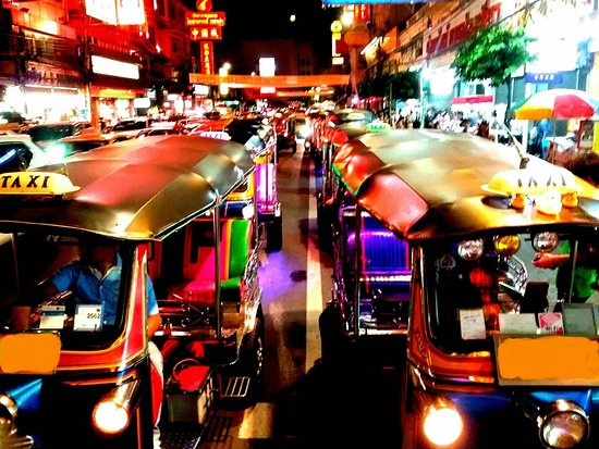 Bangkok street foods with TUK TUK
