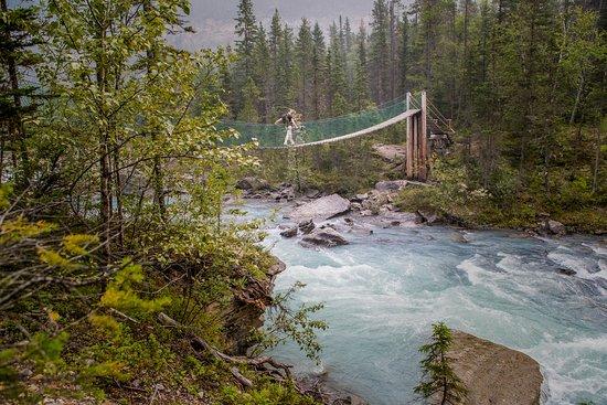 Mount Robson, Kanada: the bridge