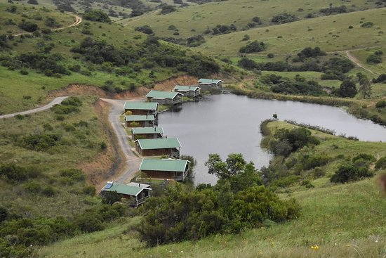 "Lake Eland Game Reserve, South Africa: Laghetto con ""chalet"""